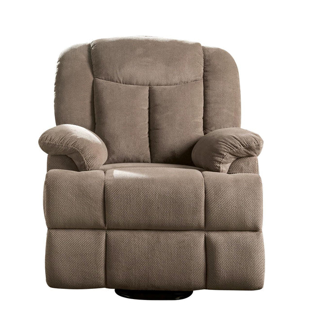 Acme Ixia Light Brown Fabric Finish Recliner Chair