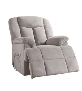 Acme Ixia Light Gray Fabric Finish Recliner Chair