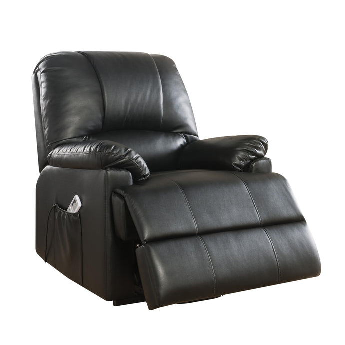 Acme Ixora Black PU Leather Finish Recliner Chair