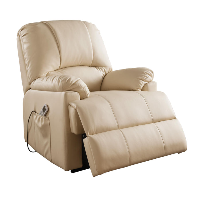 Acme Ixora Beige PU Leather Finish Recliner Chair