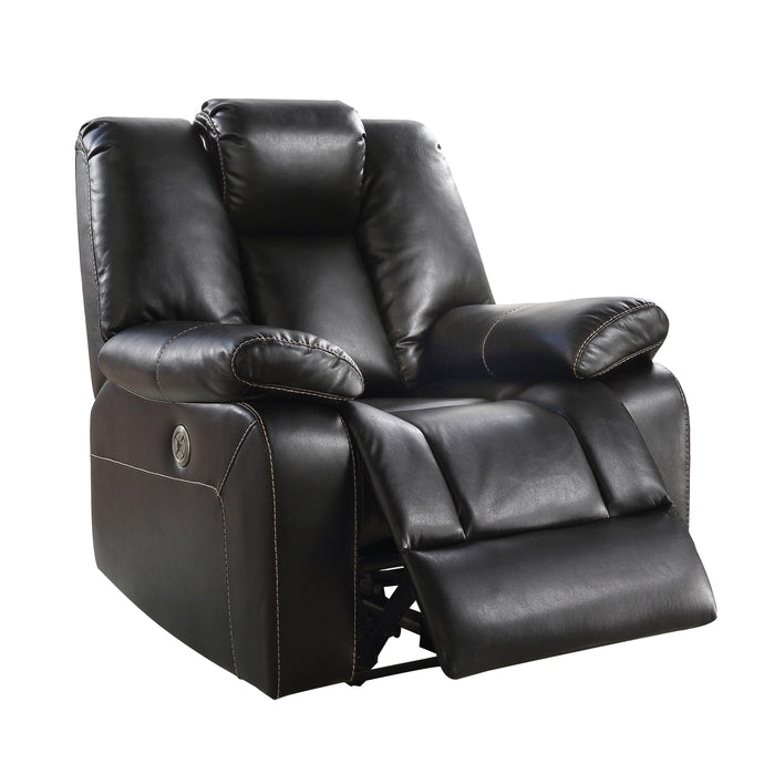 Acme Jailene Black Faux Leather Finish Recliner Chair