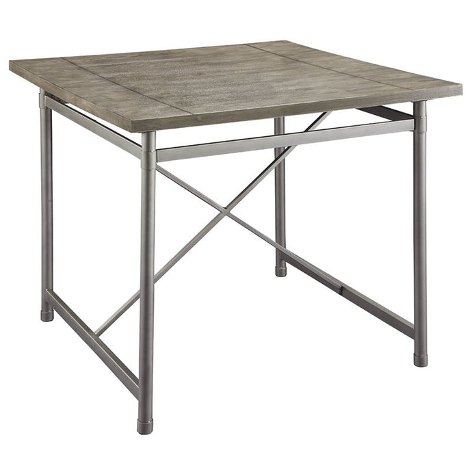 Acme Kaelyn II Gray Oak Metal And Wood Finish Bar Table