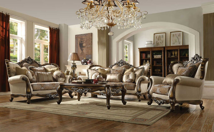Acme Latisha Tan Fabric Finish 3 Piece Sofa Set