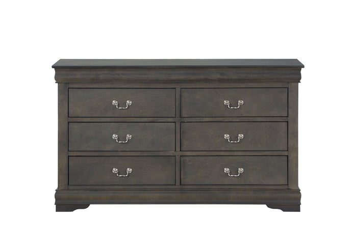 Acme Louis Philippe Dark Gray Wood Finish Dresser
