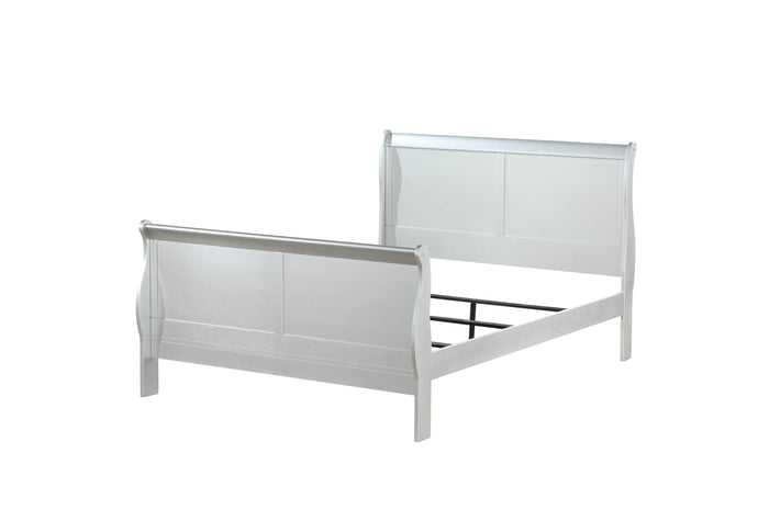 Acme Louis Philippe III Platinum Wood Finish Twin Bed