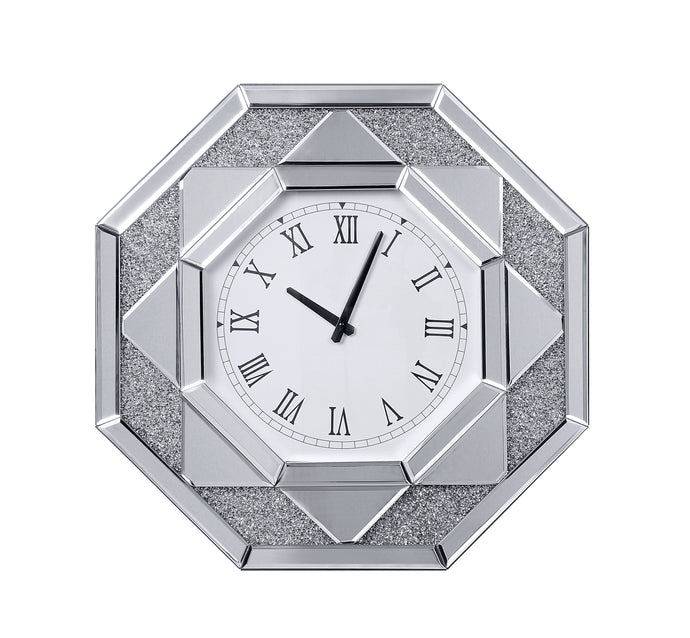 Acme Maita White Mirrored Finish Wall Clock