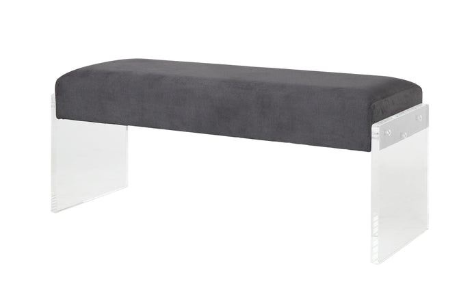 Acme Marah Charcoal Acrylic Finish Bench