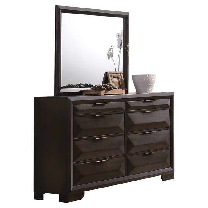 Acme Merveille Espresso Wood Finish Dresser With Mirror