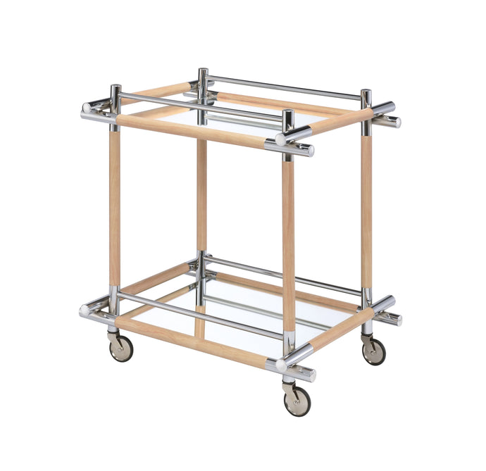 Acme Mylandra Chrome And Mirrored Finish Service Cart