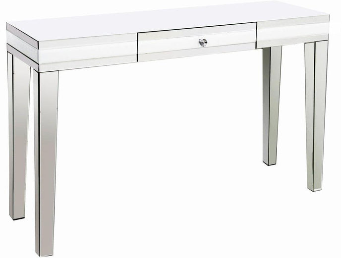 Acme Nerissa Mirrored And Wood Finish Console Sofa Table