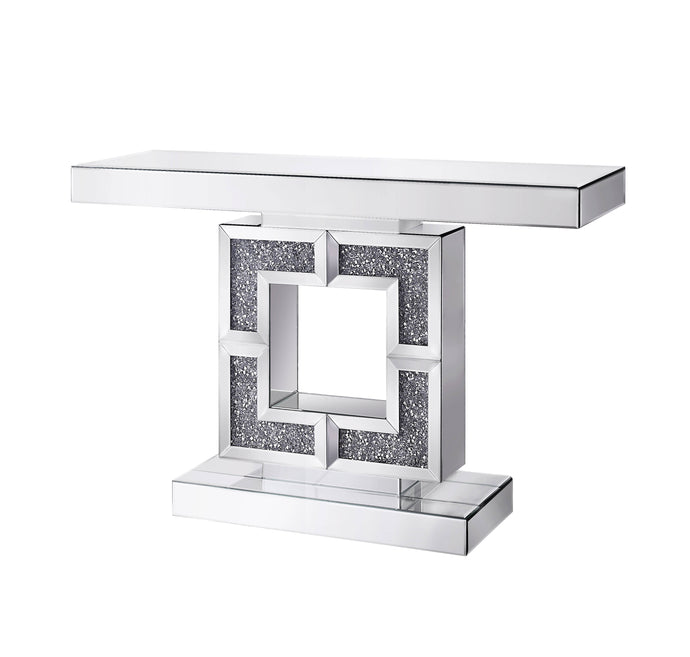 Acme Noralie Mirror Glass Top Finish Console Sofa Table