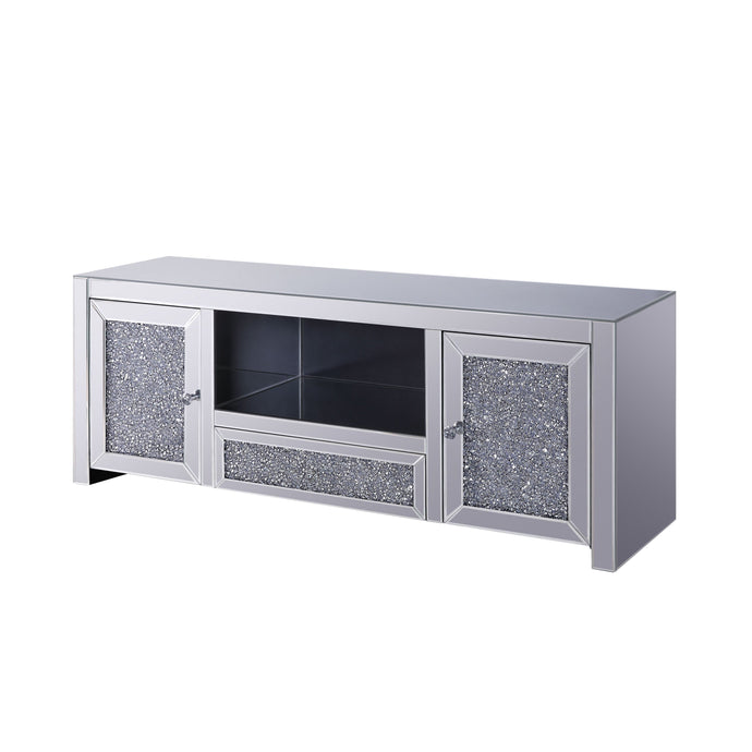 Acme Noralie Mirrored Crystal Finish TV Stand