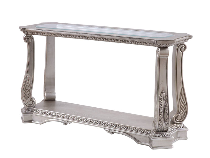 Acme Northville Antique Silver Wood Finish Console Sofa Table