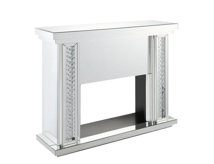 Acme Nysa Mirrored Finish Electric Fireplace