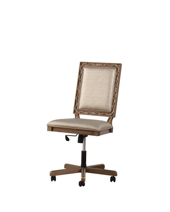 Acme Orianne Champagne Wood Finish Office Chair