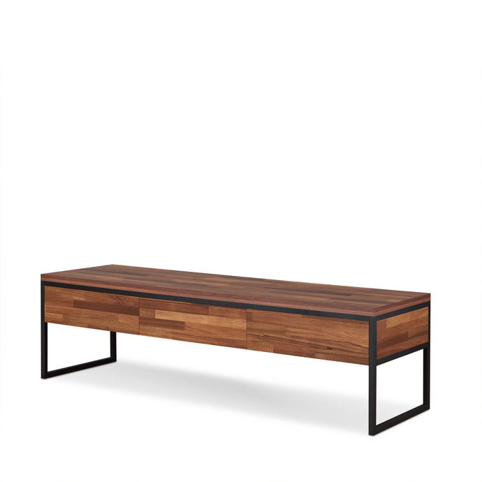 Acme Sara Walnut Wood And Metal Finish TV Stand