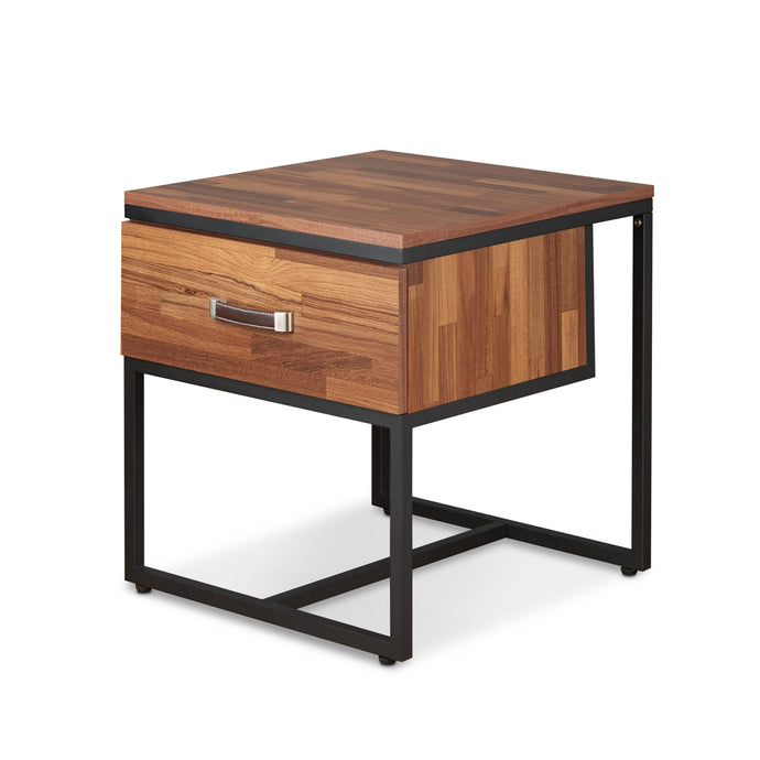 Acme Sara II Walnut Wood And Metal Finish File Cabinet