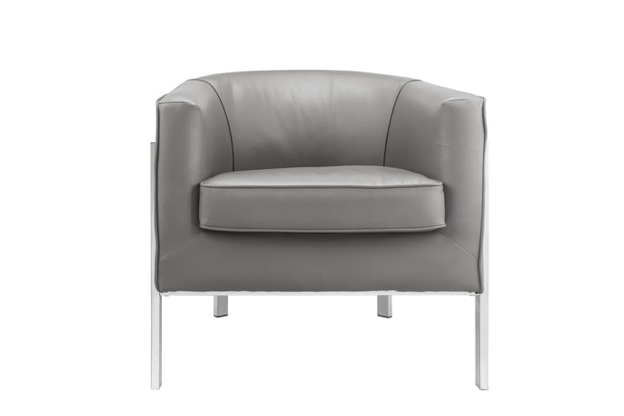 Acme Tiarnan Vintage Gray PU Leather Finish Accent Chair