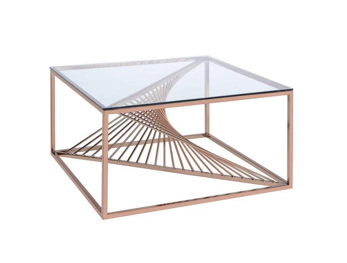 Acme Tralen Brushed Copper Metal Finish Coffee Table