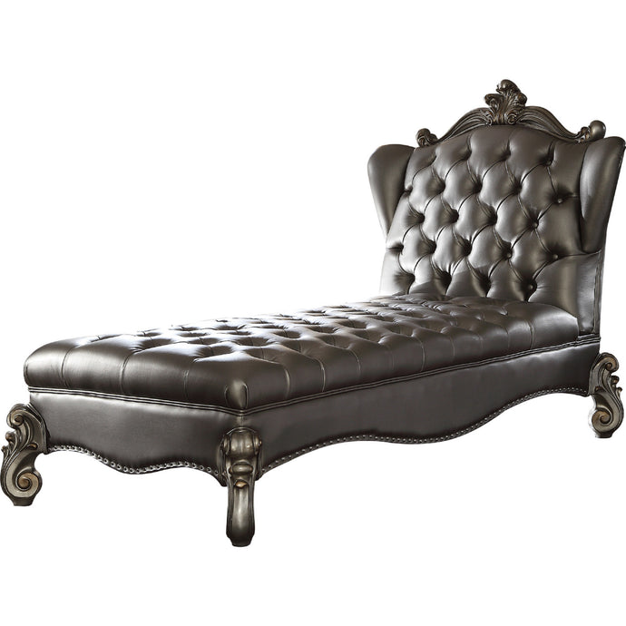 Acme Versailles Silver PU Leather Finish Chaise