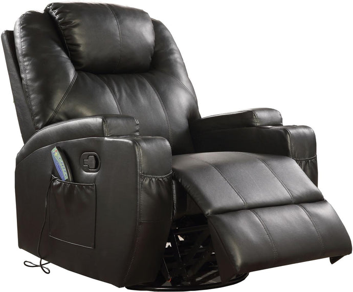 Acme Waterlily Black PU Leather Finish Recliner Chair