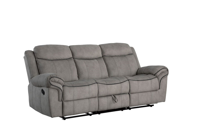 Acme Zubaida Gray Two Tone Velvet Finish Recliner Sofa