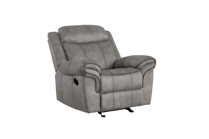 Acme Zubaida Gray Two Tone Velvet Finish Recliner Chair