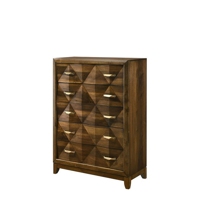 Acme Delilah Walnut Wood Finish Chest