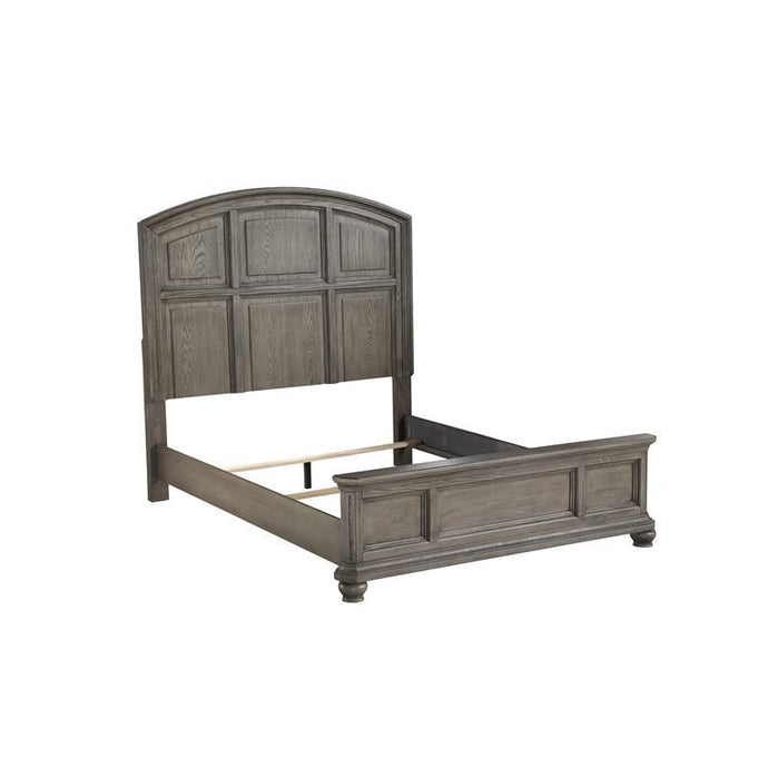 Acme Kiran Gray Wood Finish California King Bed