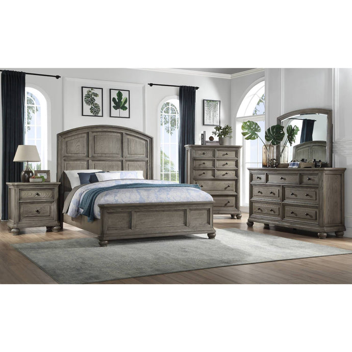 Acme Kiran Gray Wood Finish 4 Piece Queen Bedroom Set