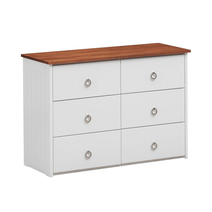 Acme Farah White And Oak Wood Finish Dresser