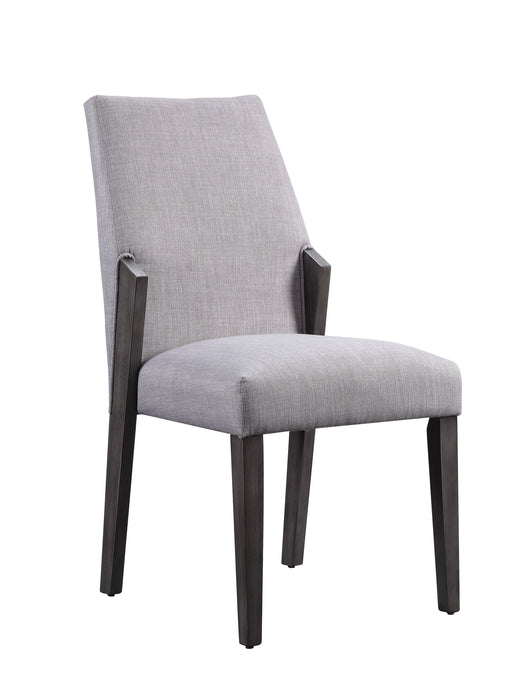 Acme Belay Gray And Oak Wood Finish 2 Piece Dining Chair