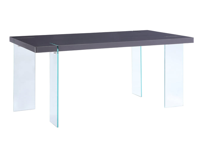 Acme Noland Gray Glass Top Finish Dining Table