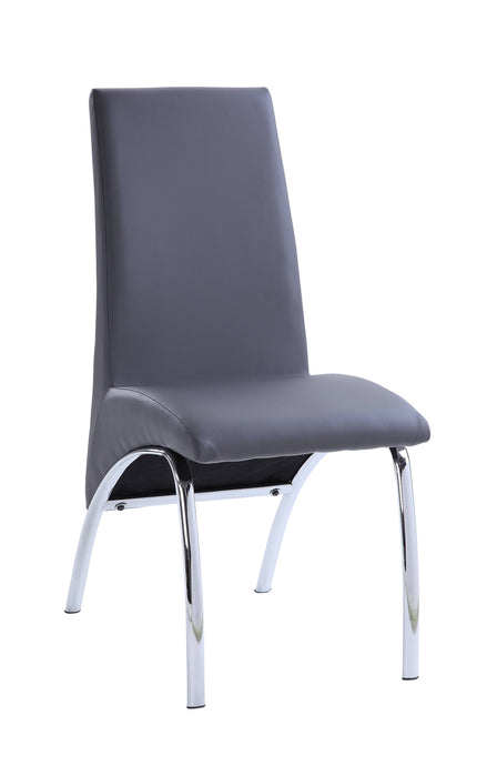 Acme Noland Gray Glass Top Finish 2 Piece Dining Chair