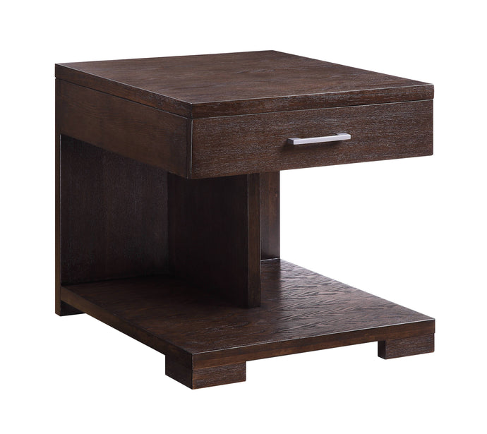 Acme Niamey Cherry Wood Finish End Table