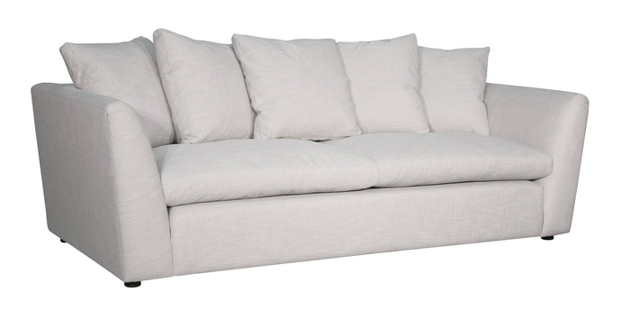 Acme Karina Ivory Fabric And Wood Finish Sofa