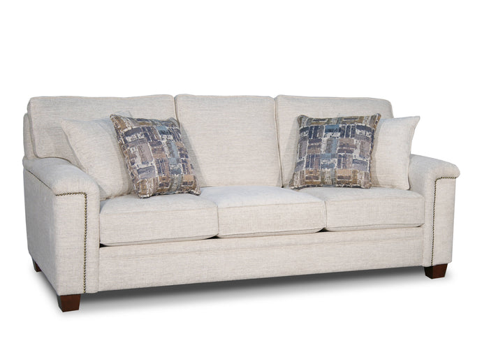 Acme Kalista Ivory Fabric And Wood Finish Sofa