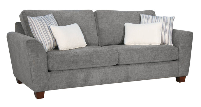 Acme Karenza Gray Fabric And Wood Finish Sofa