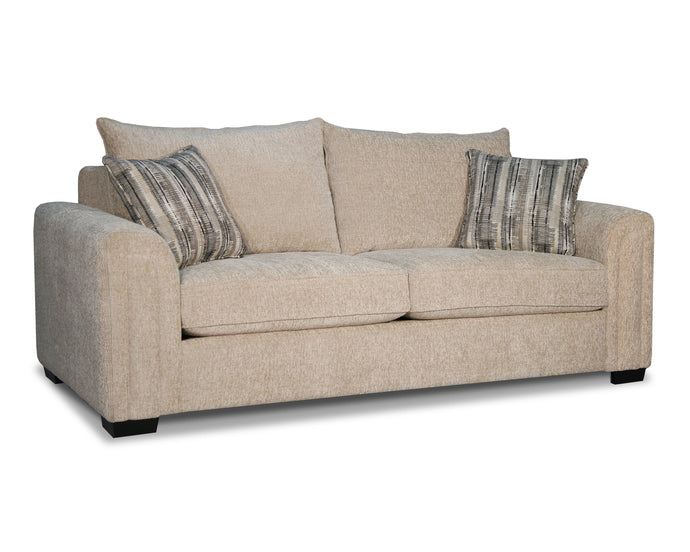 Acme Kanika Beige Fabric And Wood Finish Sofa