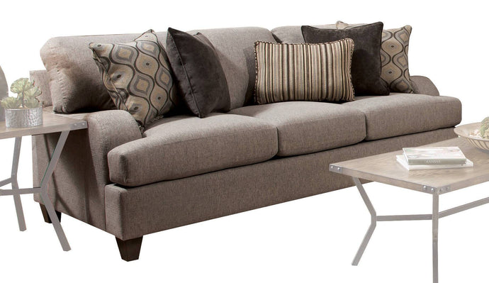 Acme Cantia Gray Fabric And Wood Finish Sofa