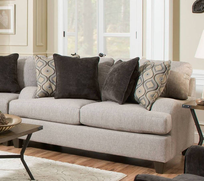 Acme Cantia Gray Fabric And Wood Finish Loveseat
