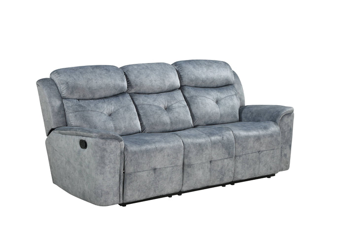 Acme Mariana Silver Gray Fabric Finish Recliner Sofa