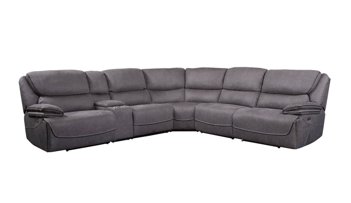 Acme Neelix Gray Fabric And Wood Finish Sectional Sofa