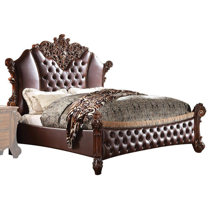 Acme Vendome PU Leather And Wood Finish Eastern King Bed