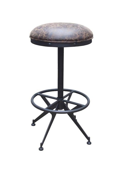 Homy Living Black Wood And Metal Finish Bar Stool