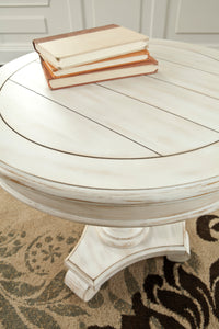 Signature Design by Ashley Mirimyn White Round Accent Table