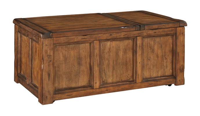 Ashley Tamonie Medium Brown Rect Lift Top Cocktail Table