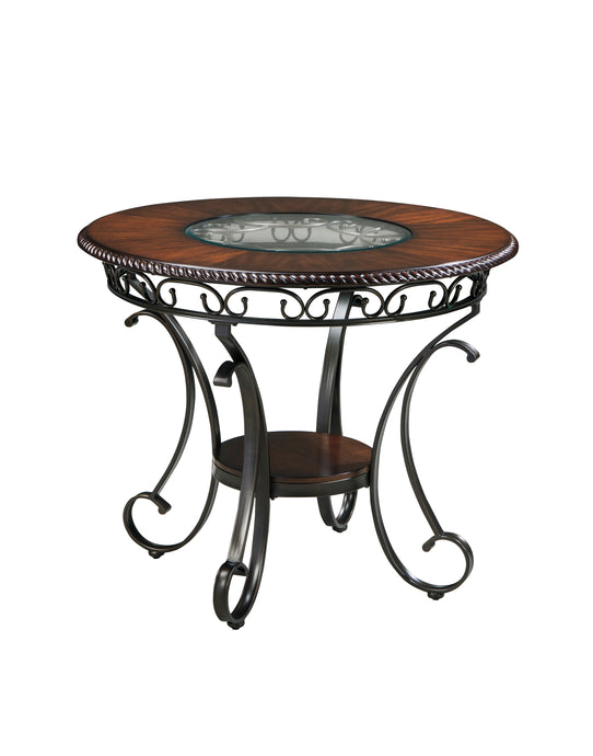 Signature Design by Ashley Glambrey Brown Round Counter Table