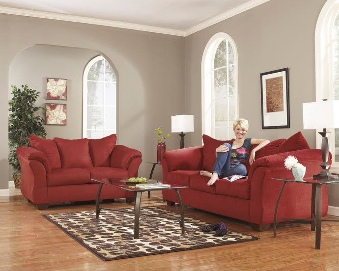 Signature Design By Ashley Darcy Salsa 2 Piece Sofa And Loveseat