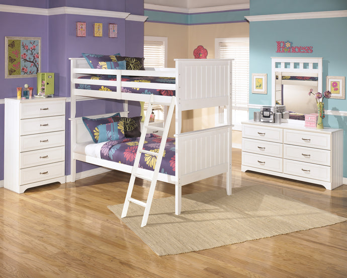 Ashley Lulu White 7 Piece Twin Twin Bunkbed Bedroom Set